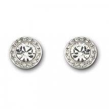Authentic Swarovski Angelic Stud Earrings, Rhodium - $59.09