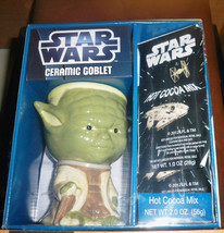 Star Wars Collectable  Yoda Ceramic Goblet With Hot Cocoa Mix - $9.00