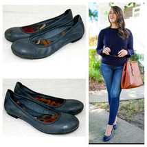 BORN Womens 6 BALLET FLATS Shoes BLUE LEATHER Slip On CAREER CASUAL    R - $27.61
