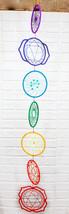 Colorful Wiccan 7 Chakra Symbols Zone Colors Dreamcatcher Yoga Wall Deco... - $35.99