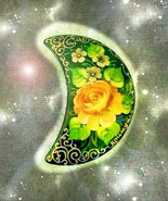 HAUNTED ANTIQUE PIN THE MOON BLESSES HAPPY LOVE FILLED HOME  SECRET OOAK... - $4,503.89