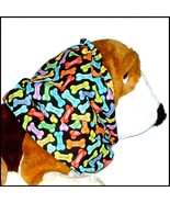 Dog Snood Bright Multi Colored Good Dog Biscuits Cotton Puppy Regular - $12.00