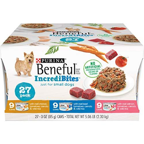Primary image for Purina Beneful Small Breed Wet Dog Food Variety Pack, IncrediBites - 27 3 oz. Ca