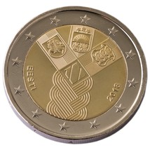 Estonia 2018 coin 100 years independence Baltic states, munze, UNC - $3.90