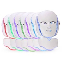 LED Photon Therapy Mask and Neck with 7 Color Light Treatment | Face Beauty Skin - $159.95