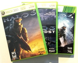 HALO 3 HALO ODST HALO 4 Three Disk Lot XBOX 360 Video Game Manual Case A... - $24.99