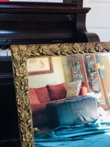 Ornate Antique Gesso Wood Carved Picture Frame with Mirror 32x24 floral ... - $247.50