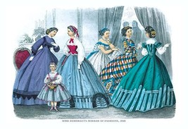 Mme. Demorest's Mirror of Fashions, 1840 - Art Print - $19.99+