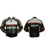 New Handmade Men's Ducati Corse Classic 80s Motorcycle Leather Jacket - $165.00