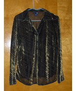 Venezia Jeans Shirt Top Sexy Shimmers 14 16  - $10.00