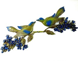 Large Vintage 1970's Birds and Flowers Wall Plaques Plastic Wall Art USA... - $33.17