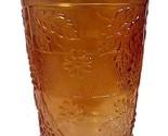 Enton marigold carnival glass 4 inch water tumbler floral   grape variant drinking thumb155 crop