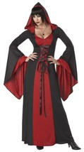California Costumes Deluxe Hooded Robe Adult Costume, Red/Black, Medium - £26.31 GBP