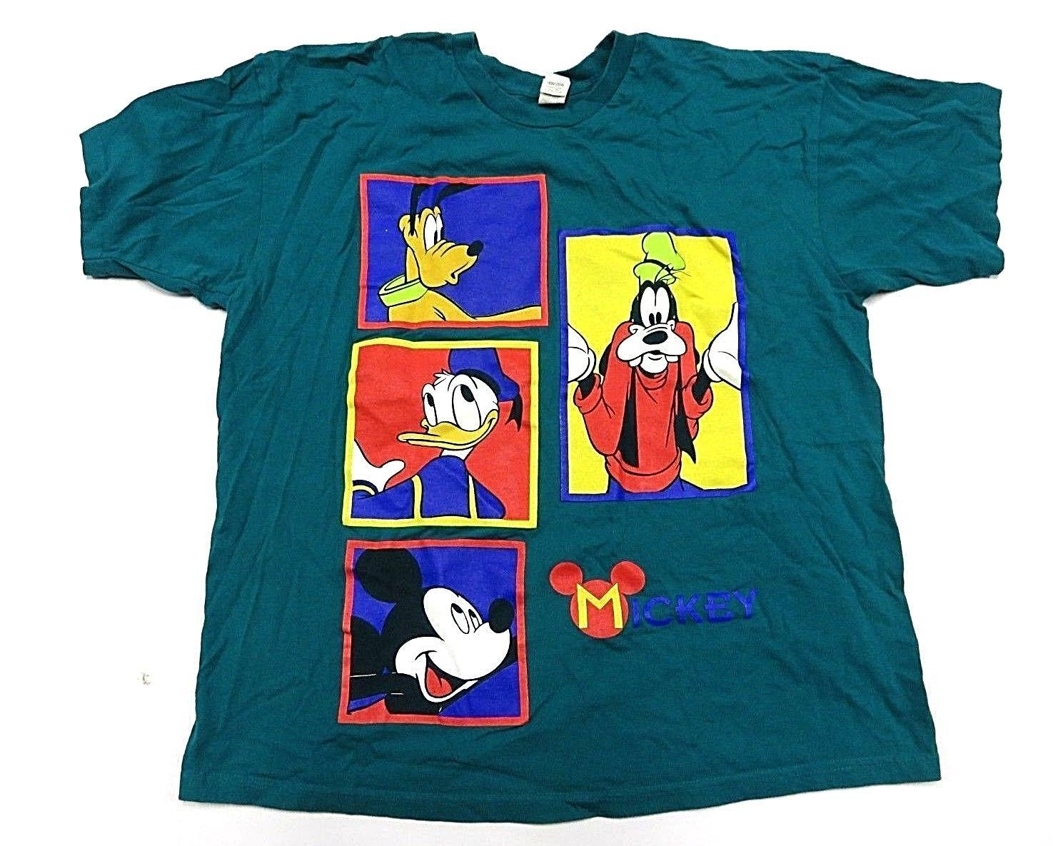 170676630 57. 57. Previous. DISNEY Mickey Mouse Characters Teal Graphic T-Shirt  Women's Plus Size 18W-20W