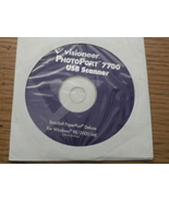 Visioneer PhotoPort 7700 USB Scanner Driver CD 41-0199-000 - $3.95