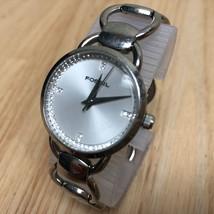 Fossil ES-1355 Lady Diamond Accent Steel Analog Quartz Watch Hours~New B... - ₨1,204.88 INR
