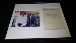 Jimmy Carter Presidential Campaign Framed ORIGINAL 1976 Letter & Photo D... - $123.74