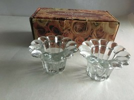 Collectors Crystal Galleries Crystal Votive Candleholder Set of 2 New Op... - $6.49