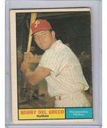 1961 Topps #154 Bobby Del Greco Poor - $1.00