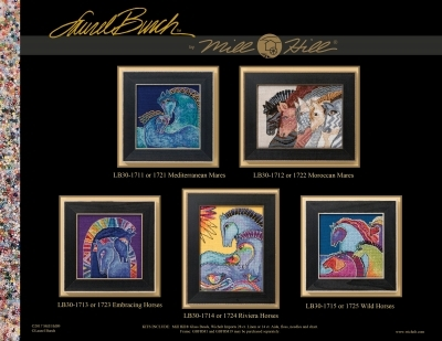 Wild Horses 2017 Horse Collection AIDA cross stitch kit Laurel Burch Mill Hill