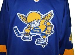 Custom Name # Minnesota Fighting Saints Retro Hockey Jersey New Walton Any Size image 3