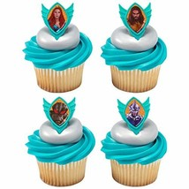 Decopac 24 Aquaman Cupcake Rings Toppers Cake Decoration - $11.83