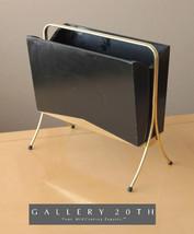 ATOMIC MID CENTURY MODERN MAGAZINE RACK! 50s Black Interior Design Sputn... - $800.00
