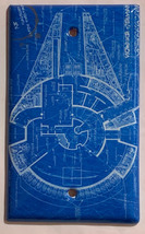 Star Wars Millennium Falcon Blueprint Switch Outlet wall Cover Plate Home Decor image 4