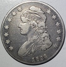 1834 Capped Bust Half Dollar 50¢ Coin Lot# 918-23