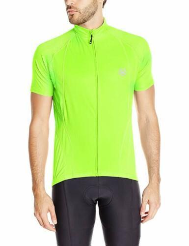 Large CANARI Men's Optic Nova Cycling Jersey Full Zip Short Sleeve Killer Yellow