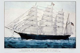 Clipper Ship 'Great Republic' by Nathaniel Currier - Art Print - $19.99+