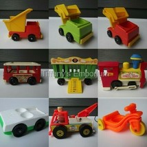 Vintage Fisher Price Little People Trains Planes and Automobiles - $7.51+