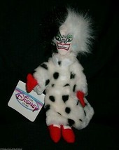 "9"" DISNEY STORE CRUELLA 101 DALMATIAN STUFFED ANIMAL PLUSH TOY BEAN BAG ... - $14.03"