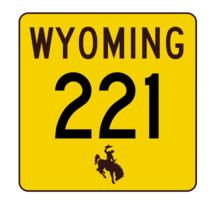 Wyoming Highway 221 Sticker R3467 Highway Sign - $1.45+
