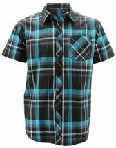 Men's Plaid Button Up Short Sleeve Regular Fit Casual Dress Shirt w/ Defect - L image 1