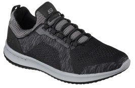 Mens Skechers Delson Brewton Sneakers - Black/Charcoal Size 9 [65509/BKCC] - $59.99