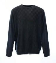 Geoffrey Beene Mens Sweater Blue Navy Basketweave Crewneck Size M NEW $65 - $24.99