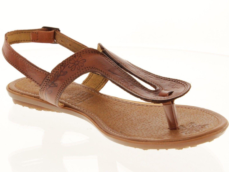 0a287bcd59c8e Womens Brown Real Leather Mexican Handmade Huarache Sandals Flip Flops 549