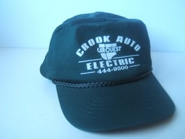 Crook Auto Electric Carquest Hat Dark Snapback Rope Baseball Cap - $15.36