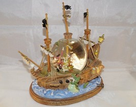 Extremely Rare! Walt Disney Peter Pan Fighting with Cap Hook Snowglobe Statue - $526.19