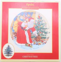Spode Christmas Tree Cookies For Santa Porcelain Plate - $34.65
