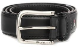 New Tommy Hilfiger Men's Premium 35MM Leather Casual Belt Black 11TL02X038