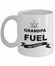 Grandpa Fuel Mug Funny White Ceramic Coffee Cup from Granddaughter on Fa... - $14.80