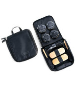 Bey Berk Shoe Shine Kit in Black Ballistic Nylon Zippered Case - $44.95