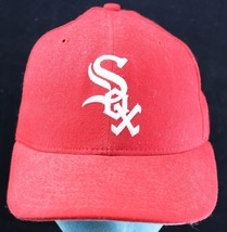 """Vintage Chicago White Sox New Era Hat - 7"""" Fitted Wool Baseball Cap -Mad... - ₹3,633.00 INR"""