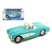 1957 Chevrolet Corvette Turquoise 1/24 Diecast Model Car by Maisto 31275tur - $28.33