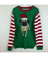 Ugly Christmas Sweater Party Unisex Adult XXL Pug Puppy Dog Green Red Wh... - $34.60