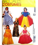 McCall's 2850 Girls Size 12-14 Princess, Snow White, Dorothy, Belle Cost... - $12.86