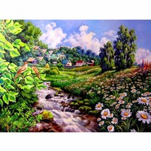 "Flower Scenic 16X20"" Paint By Number Kit DIY Acrylic Painting on Canvas ... - $9.59"