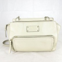 KATE SPADE Gray Taupe Pebbled Leather Top Zip Crossbody Purse Bag 0826RS - £34.53 GBP
